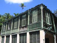 Free Nassau Bahamas Old Green Building Stock Images - 808634