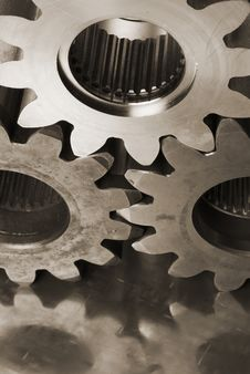 Free Mechanical Still-life In Sepia Stock Image - 808921