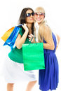 Free Two Beautiful Girls With Shopping Bags Stock Photo - 8008990