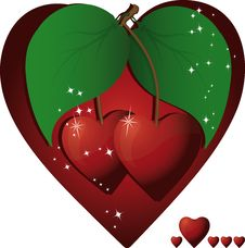 Free Heart Cherries Stock Image - 8000821