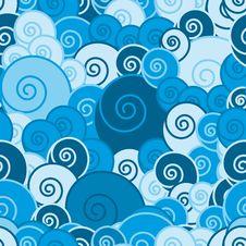 Free Seamless Background Blue Stock Image - 8000841