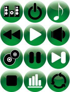 Free Set Icon Music Royalty Free Stock Photo - 8001025