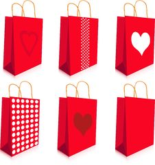 Red Bags Stock Photos
