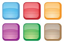 Colorful Vector Buttons Royalty Free Stock Photo