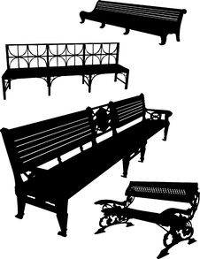 Free Four Bench Set Royalty Free Stock Photo - 8003205