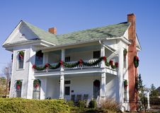 Free Old White House With Christmas Deocrations Stock Photo - 8003310