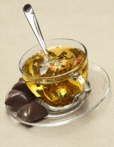 Free Tea With Chocolate. Royalty Free Stock Photo - 8003785