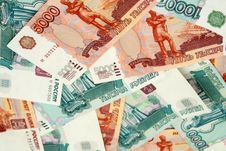 Free The Russian Bank Notes, Roubles; Background Stock Images - 8003854