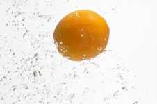 Free Alone Orange And Fresh Water. Stock Photography - 8003952