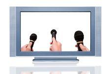 Free Plasma LCD HDTV Display Stock Image - 8004061