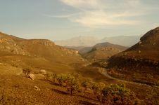 Winter Scene In The Drakensberg Mountains Stock Photography