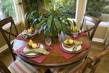 Festive Dining Table Royalty Free Stock Photography