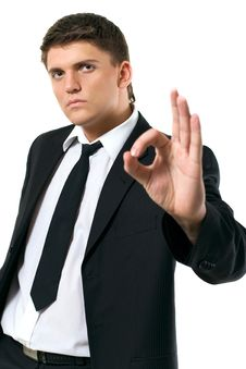 Free Businessman Showing Ok Sign Stock Photography - 8006172