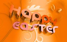 Happy Easter 3d Text And Florals Stock Image