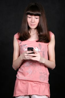 Free Girl With A Phone Royalty Free Stock Images - 8007179