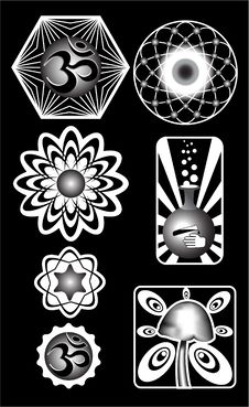 Free Set Of Tribal Signs. Royalty Free Stock Images - 8007189