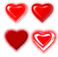 Free Red Heart Royalty Free Stock Photos - 8007258