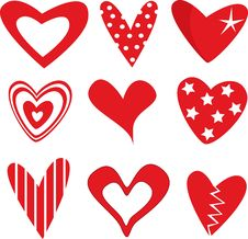 Free Hearts Set Stock Photo - 8007330