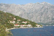 Boka-kotor Bay, Montenegro Royalty Free Stock Image