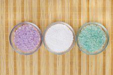 Colored Bath Salt Stock Images