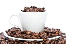 Free Cup Of Coffee, Full Of Beans Stock Photos - 8008263