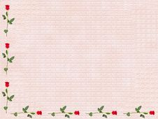 Free Rose Parchment Stock Image - 8008521