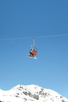 Free Chairlift Royalty Free Stock Photography - 8009157