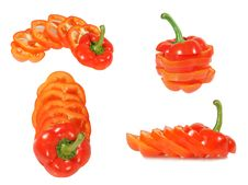Free Red Bulgarian Pepper Royalty Free Stock Photos - 8009278