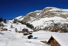 Free Alpine Winter Ski Trace Stock Images - 8009654