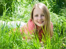 Free Girl At Grass Stock Photo - 8009680