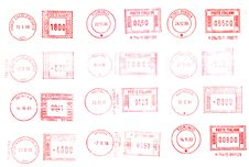 Free Italian Red Stamps Background Stock Images - 8009884