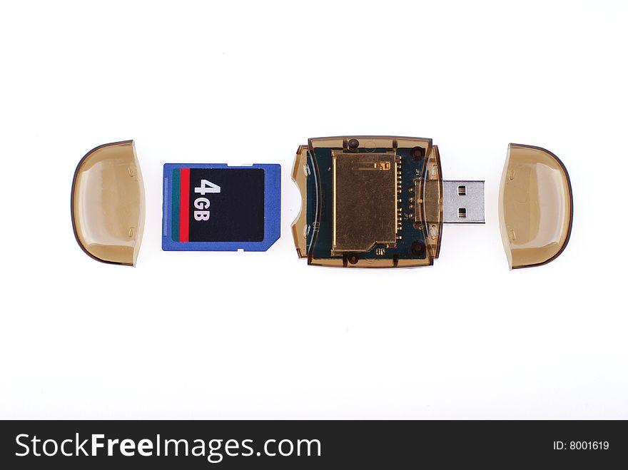 Memory card and card reader