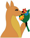 Free Small Deer With Flowers Stock Photography - 8017552