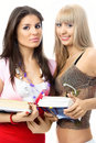 Free Two Beautiful Young Students With Books Stock Photography - 8018392