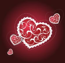 Free Background With Heart For Valentine Day Royalty Free Stock Photos - 8010128