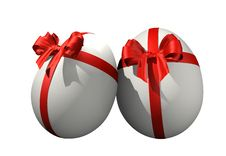 Free Gift White Eggs Decorative Royalty Free Stock Images - 8010299
