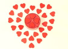 Free Candlestick Surrounded With Hearts Royalty Free Stock Images - 8010309