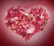 Free Heart Made Of Petals Stock Photos - 8010353