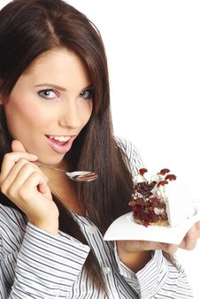 Free Businesswoman  Eating The Cake. Royalty Free Stock Images - 8011039