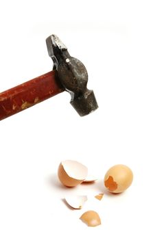 Free Hammer Cracking Egg Royalty Free Stock Photo - 8011205