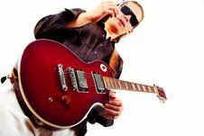 Free Guitarist Royalty Free Stock Image - 8011466