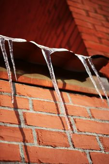 Free Hanging Icicles Royalty Free Stock Image - 8011566