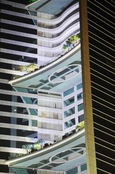Free The Modern Building At Night Royalty Free Stock Photos - 8011748
