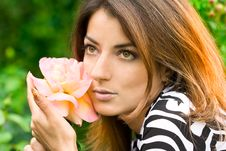 Free Beautiful Woman In Garden Royalty Free Stock Photo - 8011845