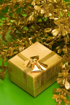 Free Golden Gift Box Stock Photo - 8012160