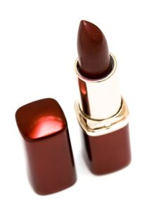 Free Red Lipstick On White Royalty Free Stock Images - 8012239
