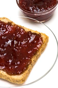 Free Breakfast Of Raspberry Jam Royalty Free Stock Images - 8012499