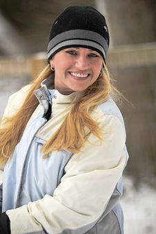 Free Beautiful Woman In Snow Stock Photo - 8012510