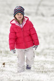 Free Cute Girl In Snow Stock Photo - 8012530