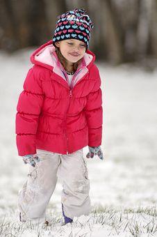 Free Cute Girl In Snow Stock Photos - 8012533